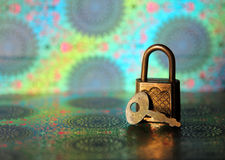Vintage lock and key Stock Photography
