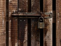 Vintage lock and padlock Stock Photo