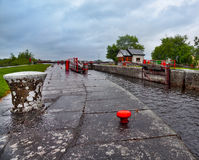 Vintage lock on Shannon river Stock Images