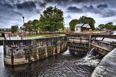 Vintage lock on Shannon river Royalty Free Stock Photo