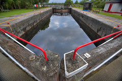 Vintage lock on Shannon river Stock Photography