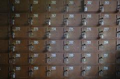 Vintage locker. Old wooden vintage locker in a Japanese bath Stock Image