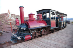 Vintage locomotive with carriage Stock Photography