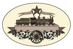 Vintage locomotive logo Stock Images