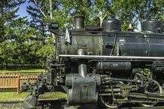 Vintage locomotive. Vintage running black steam locomotive Stock Photography