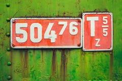 Vintage locomotive sign Stock Photography