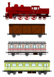 Vintage locomotive and wagons Royalty Free Stock Image