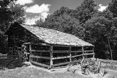 Vintage Log Barn royalty free stock photography