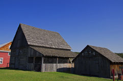 Vintage Log barn shed house Royalty Free Stock Photo