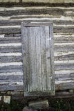 Vintage log cabin door Stock Images