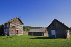 Vintage Log cabin house Stock Image