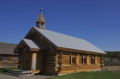 Vintage Log Church Stock Image