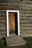 Vintage Log House Door Royalty Free Stock Photography