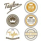 Vintage logo, badge, emblem or logotype elements Stock Photography
