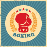Vintage logo for boxing Stock Images