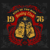 Vintage logo for a boxing on grunge background Stock Photography