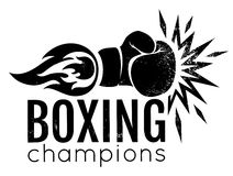 Vintage logo for boxing. Stock Image