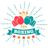 Vintage logo for boxing Royalty Free Stock Image