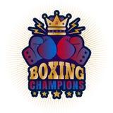 Vintage logo for boxing Stock Photos