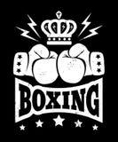 Vintage logo for boxing. Stock Photo