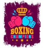 Vintage logo for boxing Stock Photo