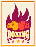 Vintage logo for boxing Royalty Free Stock Photos