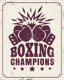 Vintage logo for a boxing Stock Photography