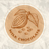 Vintage logo of cocoa Stock Photography