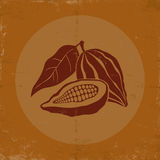 Vintage logo with cocoa Royalty Free Stock Photography