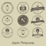 Vintage Logo Concept creativo de la fotografía Imagen de archivo libre de regalías