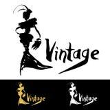 Vintage logo design. Royalty Free Stock Photography
