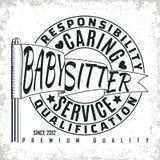 Vintage emblem design. Vintage logo graphic design, print stamp, babysitter typography emblem, Creative design, Vector Royalty Free Stock Photography