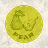 Vintage logo of pear Royalty Free Stock Images