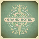 Vintage logo template, Hotel, Restaurant, Business or Boutique I Stock Photography