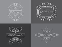Vintage logo template vector Royalty Free Stock Images