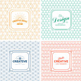 Vintage  Logo templates Royalty Free Stock Photography
