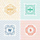 Vintage  Logo templates Stock Photography