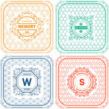 Vintage  Logo templates Royalty Free Stock Images