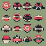 Vintage Logo Vector Set Imágenes de archivo libres de regalías