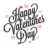 Vintage Logo On White Background del día de tarjetas del día de San Valentín ilustración del vector
