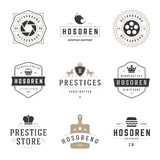 Vintage Logos Design Templates Set. Vector logotypes elements collection Royalty Free Stock Photos