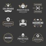 Vintage Logos Design Templates Set Stock Image