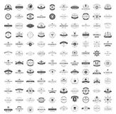 Vintage Logos Design Templates Set. Vector logotypes elements collection, Icons Symbols, Retro Labels, Badges, Silhouettes. Big Collection 120 Items Vector Illustration