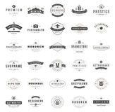 Vintage Logos Design Templates Set. Stock Photography