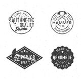 Vintage logotypes in retro old-fashioned style. Vintage logo templates, retro styled badges, labels, design elements Royalty Free Stock Photos