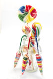 Vintage lollipops in a glass jar Royalty Free Stock Photo