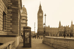 Vintage London in black and white Royalty Free Stock Photography