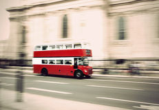 Vintage London bus Stock Photography