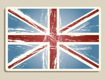 Vintage london flag Royalty Free Stock Photo