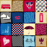 Vintage London pattern Royalty Free Stock Photo